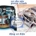 Máy nén khí dạng piston, cấu tạo, nguyên lý, ưu nhược điểm