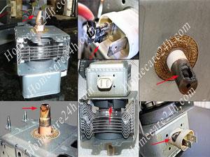 Bóng cao tần lò vi sóng bị hỏng, nguyên nhân và thay thế