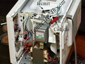 Cầu chì nguồn lò vi sóng, vị trí, chức năng và thay thế