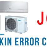 Điều hòa Daikin báo lỗi J6, xem hướng dẫn từ nhà sản xuất nhật bản