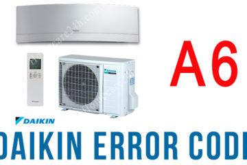Điều hòa Daikin báo lỗi A6, xem hướng dẫn từ nhà sản xuất