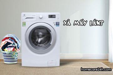 Máy giặt xả nước mấy lần, xả nước một lần liệu có sạch quần áo