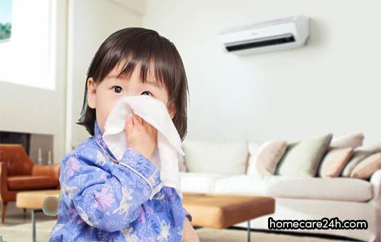 Tại sao nằm điều hòa bị chảy nước mũi