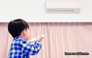 Trẻ bị sốt có nên bật điều hòa hay không?
