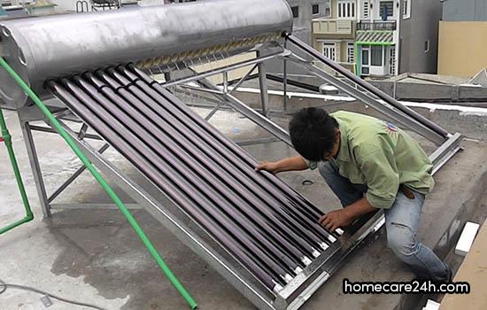 Lắp đặt bình nóng lạnh năng lượng mặt trời