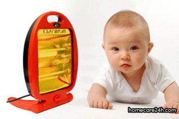 Cách sử dụng đèn sưởi cho trẻ sơ sinh an toàn, đúng cách