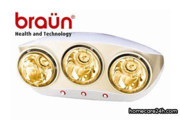 Đèn sưởi nhà tắm Braun có tốt không? Braun là thương hiệu của nước nào
