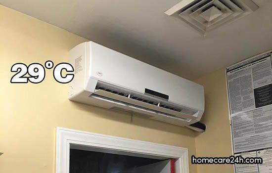 Điều hòa để 29 độ có tốn điện không