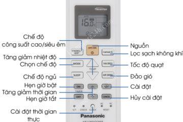 Điều hòa panasonic không nhận điều khiển, xem hướng dẫn xử lý