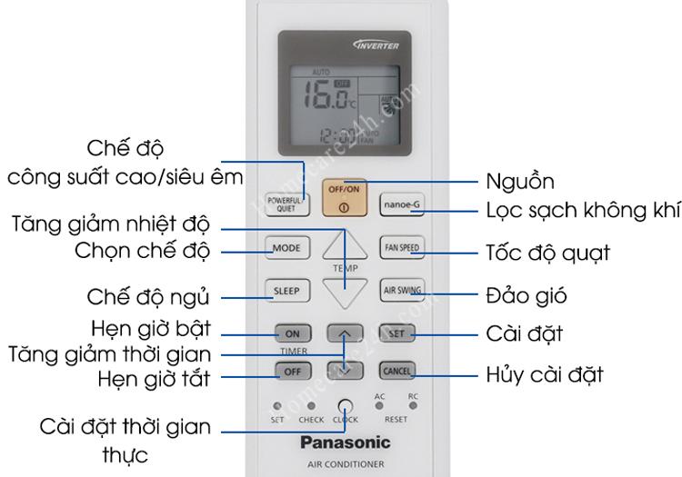 Hướng dẫn hẹn giờ điều hòa Panasonic đơn giản, đúng cách