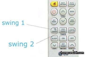 Nút swing trên điều hòa LG, chức năng và cách sử dụng
