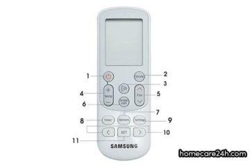 Hướng dẫn sử dụng điều khiển điều hòa Samsungtừ homecare24h