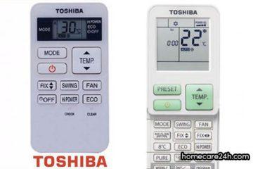 Hướng dẫn sử dụng điều khiển điều hòa Toshiba