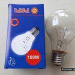 Bóng đèn 100W tốn bao nhiêu điện? Hỏi đáp nhanh homecare