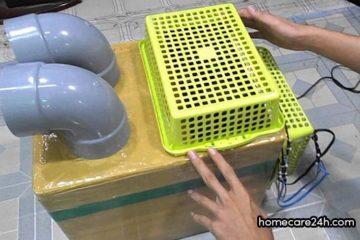Làm quạt điều hòa bằng thùng xốp, tưởng rẻ hóa đắt